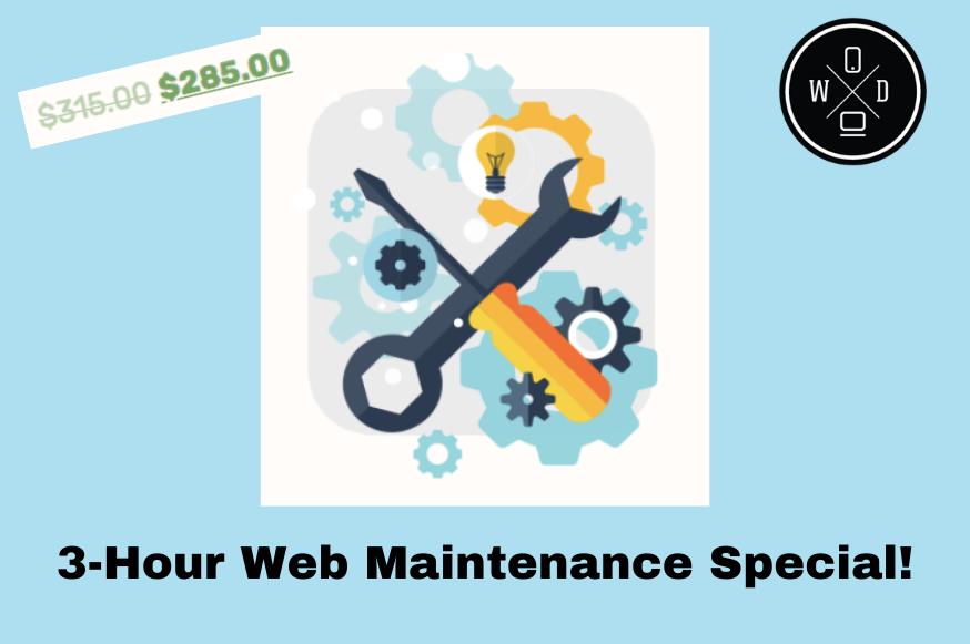 3-Hour Web Maintenance Special