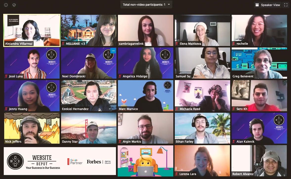 Website Depot Team Picture_Zoom meeting
